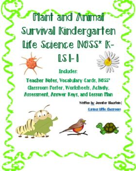Kindergarten Science, Common Core Math and ELA-Plant and A