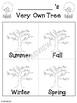 Kindergarten Science My Very Own Tree Book - Science, Art, Writing