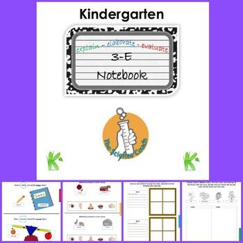 Kindergarten Science Notebook ENGLISH