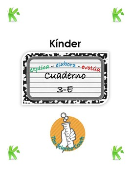 Kindergarten Science Notebook SPANISH