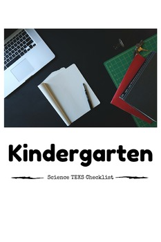 Kindergarten Science TEKS Checklist Freebie