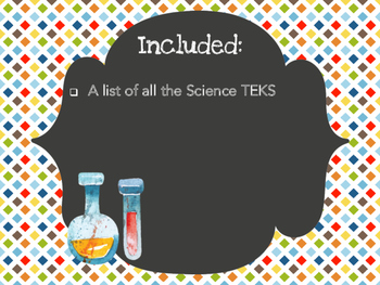 Kindergarten Science TEKS - HBone