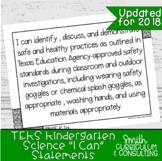 "Kindergarten Science TEKS ""I Can"" Statements | Objective Posters"