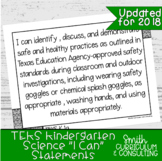 "Kindergarten Science TEKS ""I Can"" Statements"