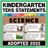 Kindergarten Science TEKS Can and Will Standards Statements