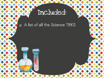Kindergarten Science TEKS - Stripes