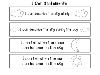 Kindergarten Science Unit: Day and Night