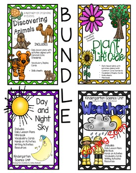 Kindergarten Science Units BUNDLE