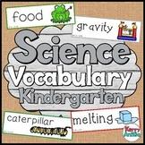 Science Vocabulary Cards Kindergarten