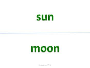 Kindergarten Science Vocabulary for Posting