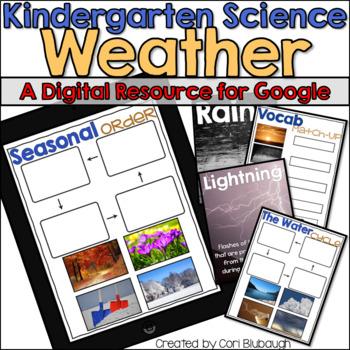 Weather - A Kindergarten Digital Science Resource