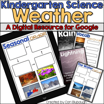 Weather - A Kindergarten Digital Science Resource