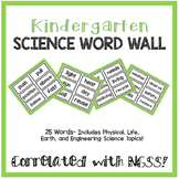 Kindergarten Science Word Wall- NGSS Aligned