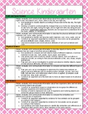 Kindergarten Science and Social Studies Standards Reference