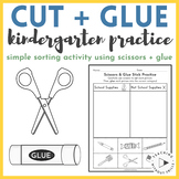 Kindergarten Scissors and Glue Practice | Sort Objects into Categories L.K.5.A