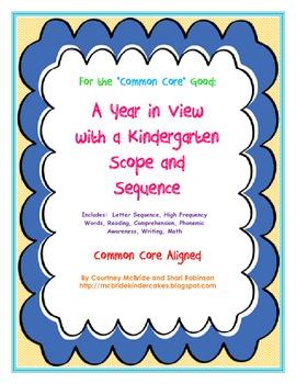 Kindergarten Scope and Sequence