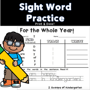 Kindergarten Scott Foresman Find-Trace-Write Sight Word Packet