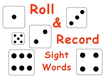 Kindergarten  Roll & Record Sight Words FREEBIE
