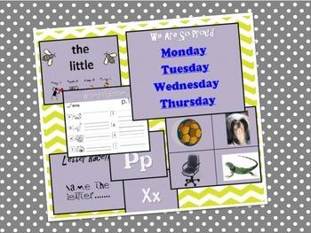 Kindergarten Scott Foresman Unit 1 Pre-Lesson PPTs