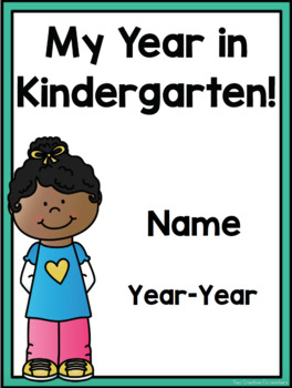 Kindergarten Scrapbook Memory Book A Fun Year Of Learning Tpt