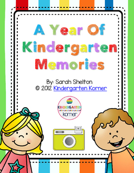 Kindergarten Scrapbook Memory Book By Sarah Shelton Tpt