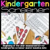 Kindergarten Screening Assessment Kt