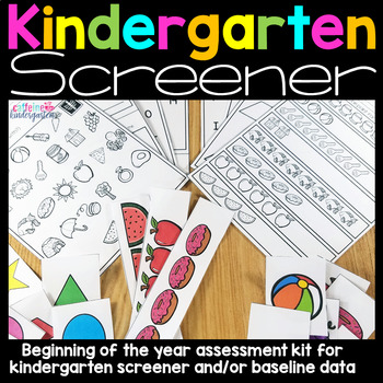 Kindergarten Screening Assessment Kt