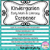 Kindergarten Screener