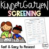 Kindergarten Screening