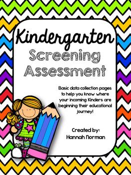 Kindergarten Screening Assessment