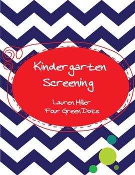 Kindergarten Screening Packet