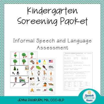 Kindergarten Screening Packet Speech And Language Screener Tpt