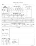 Kindergarten Screening Recording Sheet