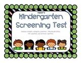 Kindergarten Screening Test for Language & Articulation