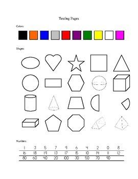 original 722953 3 - Kindergarten Screening Test