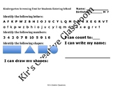Kindergarten Screening for Registration or Entering School