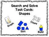 """Kindergarten """"Search and Solve: Shapes"""" Task Cards"""