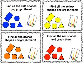 "Kindergarten ""Search and Solve: Shapes"" Task Cards"