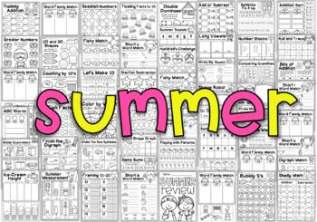 Kindergarten Seasonal Bundle - All Year Literacy and Math Worksheets
