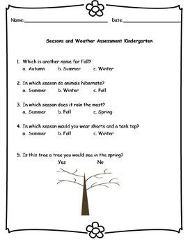 Kindergarten Seasons