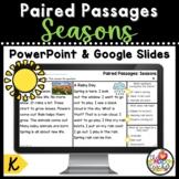 Kindergarten Seasons Paired Passages on PowerPoint and Goo