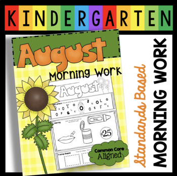 Kindergarten Common Core Aligned Morning Work with Math and Literacy Standards