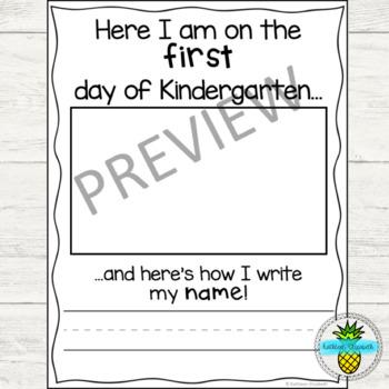 Kindergarten Self-Portrait Pages
