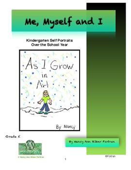 Kindergarten Self Portraits Over the Year Visual Arts Lesson