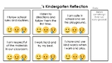 Kindergarten Self-Reflection {Behavioral Expectations and