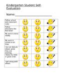 Kindergarten Self evaluation
