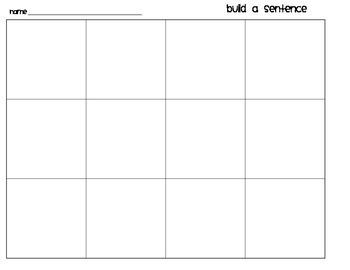 Kindergarten Sentence Builders