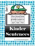 Kindergarten Sentence Building - FREEBIE