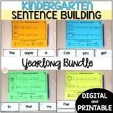 Kindergarten Sentence Building Activities - Printable & Di