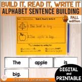 Kindergarten Sentence Building  Activities - printable & d